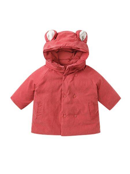 Infant Toddler Cartoon Solid Color Coat