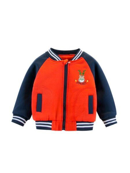 Kid Boy Cartoon Stripe Bomber Jacket BOYS Boys