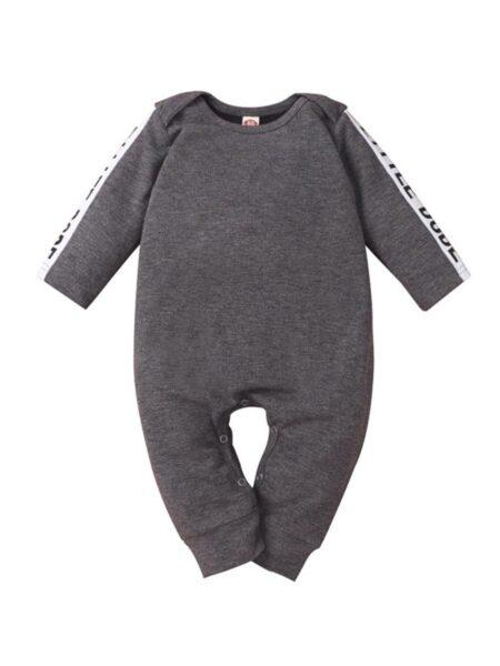 Baby Boy Letter Grey Jumpsuit