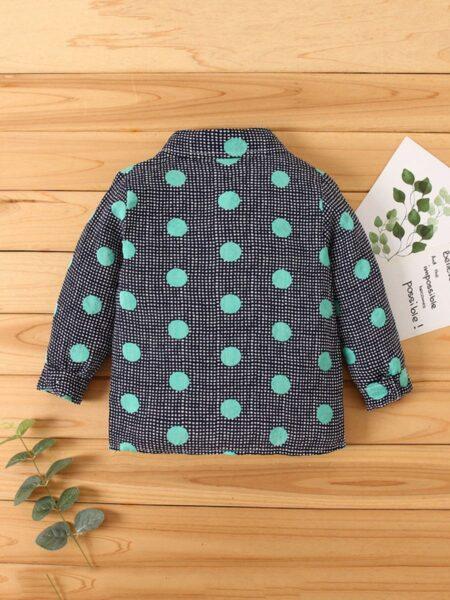 Kid Boy Polka Dots Shirt 2
