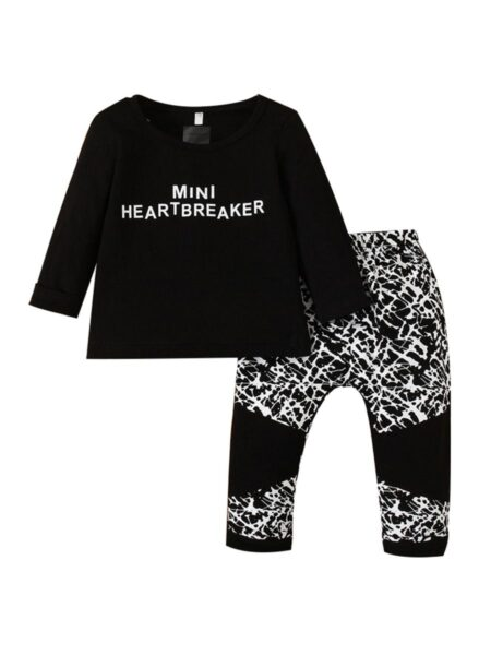 2 Pieces Baby Mini Heartbreaker Set Tee & Pants