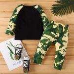 2 Pcs Baby Boy Camouflage Set Top & Pants 3
