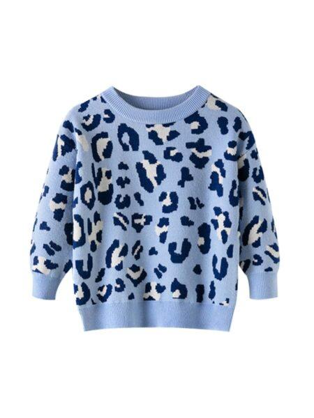 Kid Girl Leopard Knit Jumper GIRLS Girls