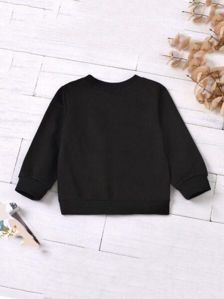 Kid Letter Black Sweatshirt  Girls