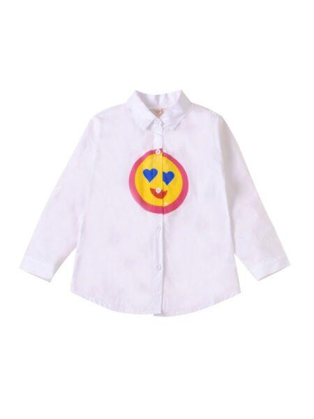 Kid Girl Smile White Blouse Wholesale