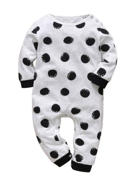 Baby It Wasn't ME Polka Dots Jumpsuit