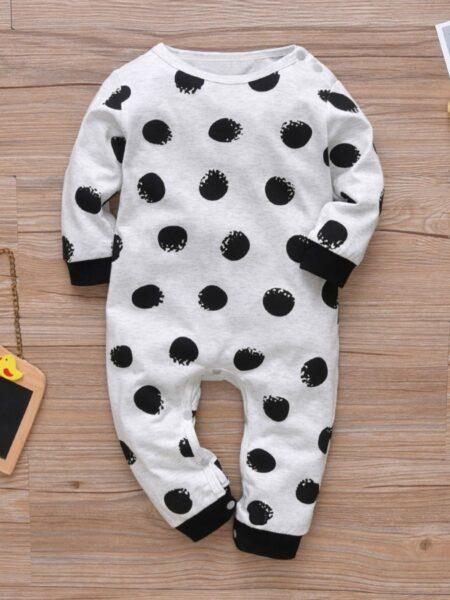 Baby It Wasn't ME Polka Dots Jumpsuit 2