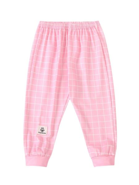 Baby Girl Plaid Cartoon Trousers