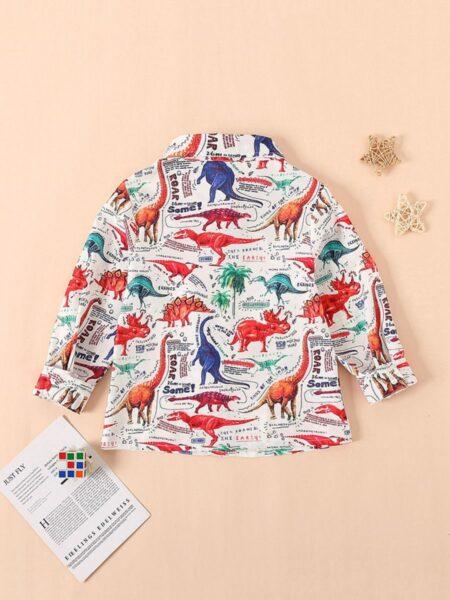 Kid Boy Trendy Dinosaur Shirt BOYS Boys