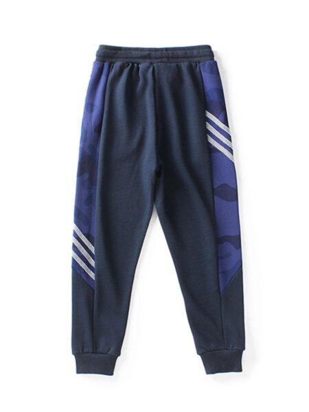 Kid Boy Sports Drawstring Pants – Black