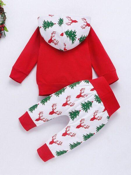 2 Pieces Baby Christmas Set Hoodie Sweatshirt & Pants 2
