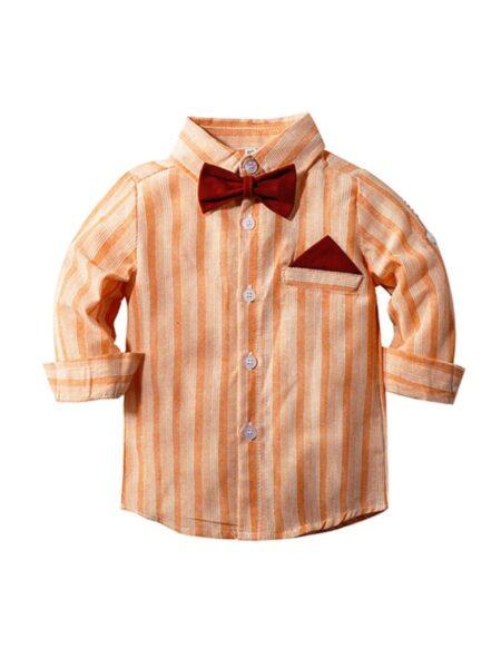 Baby Boy Bowtie Stripe Shirt