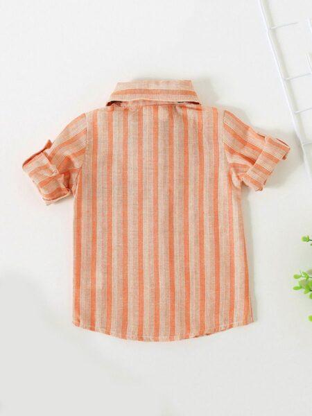 Baby Boy Bowtie Stripe Shirt 2