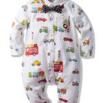 Baby Boy Car Printed Bowtie Jumpsuit 2