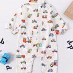 Baby Boy Car Printed Bowtie Jumpsuit 3