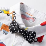 Baby Boy Car Printed Bowtie Jumpsuit 10
