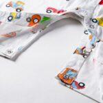 Baby Boy Car Printed Bowtie Jumpsuit 7