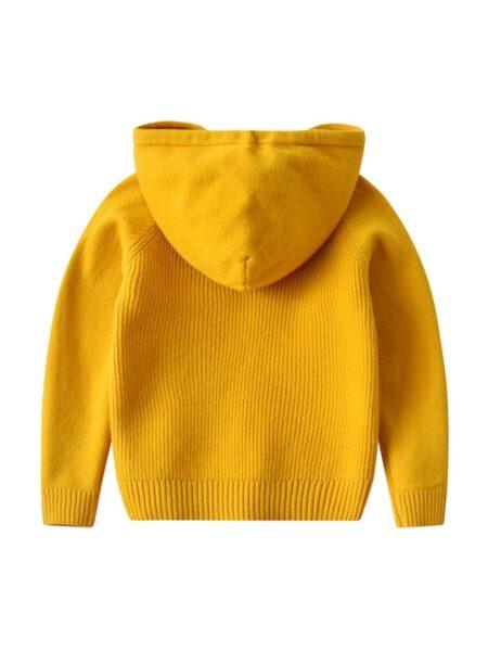 Kid Unisex Plain Knit Hoodie 2
