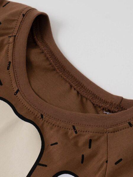2 Pieces Kid Cartoon Bear Loungewear Set Top Matching Pants Wholesale 2