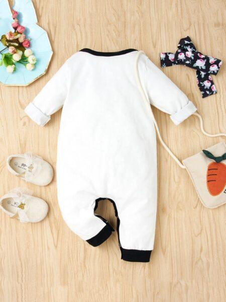 2 Pieces Infant Girl Love Heart Floral Jumpsuit & Headband BABIES Girls