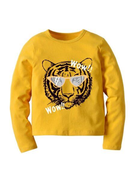 Kid Boy Tiger Cartoon Top Wholesale