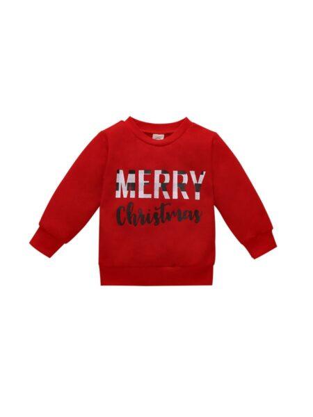 Infant Toddler Mesh Christmas Sweatshirt BABIES Unisex
