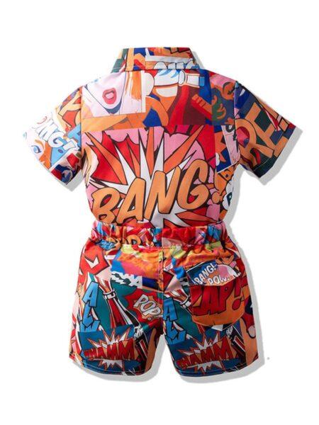 2 Pieces Kid Boy Beach Set Shirt With Shorts BOYS Boys