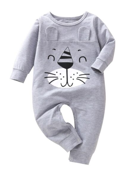 Baby Bear Jumpsuit In Grey BABIES Unisex