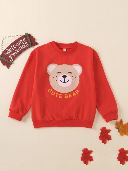 Kid Cute Bear Sweatshirt 2