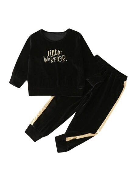 2 Pieces Kid Little Warrior Set Top And Pants