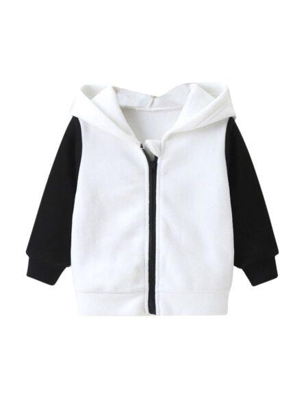 Baby Colorblock Zip Up Hooded Jacket