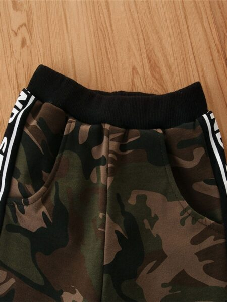 Kid Boy Letter Side Camouflage Sweatpants 2