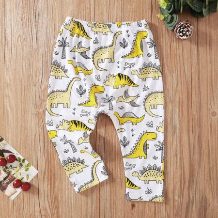 Infant Toddler Girl Dino Trousers – Blue