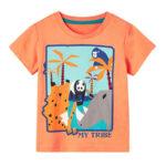 Kid My Tribe Animal Yellow Tee Wholesale Tops & T-shirts 2