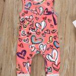 Baby Girl Valentine's Day Love Heart Tank Jumpsuit 3
