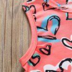 Baby Girl Valentine's Day Love Heart Tank Jumpsuit 8