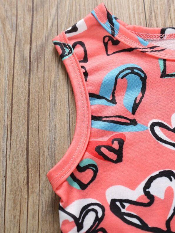 Baby Girl Valentine's Day Love Heart Tank Jumpsuit 15