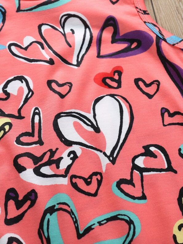 Baby Girl Valentine's Day Love Heart Tank Jumpsuit 13