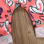 Baby Girl Valentine's Day Love Heart Tank Jumpsuit 5