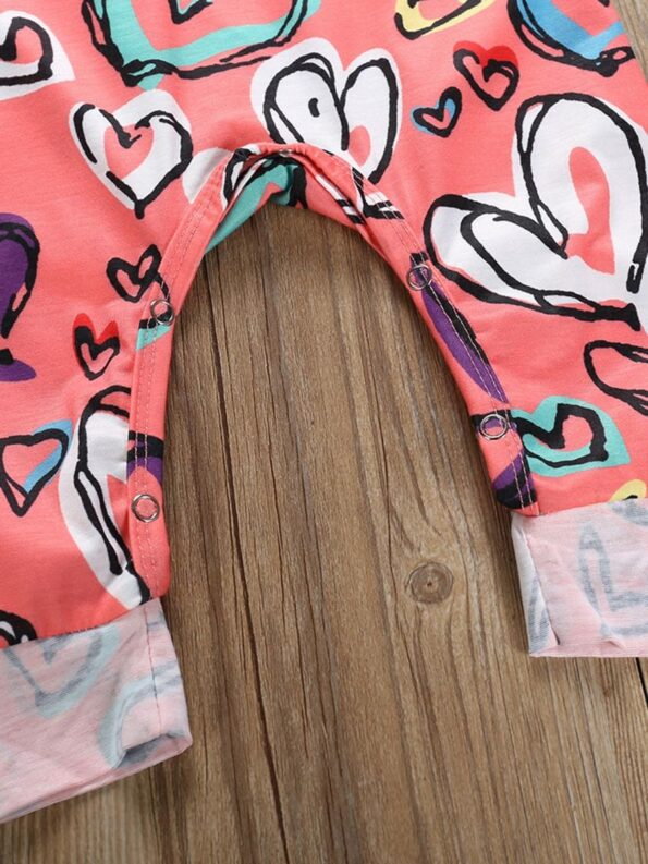Baby Girl Valentine's Day Love Heart Tank Jumpsuit 12