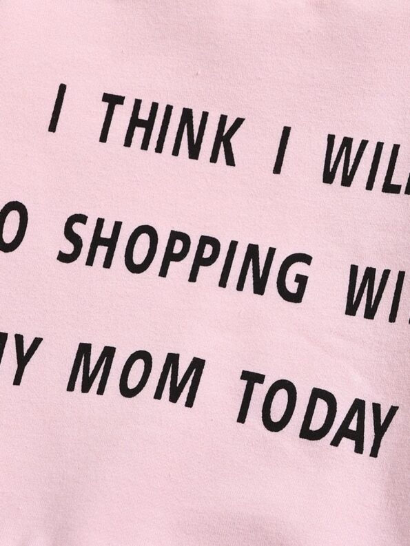 I Think I Will Go Shopping With My Mom Today Baby Toddler Sweatshirt 13