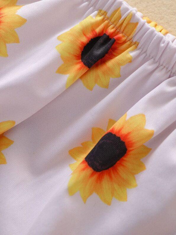 Baby Toddler Girl Two-Piece Sunflower Bikini Set Halter Top And Bottoms 16