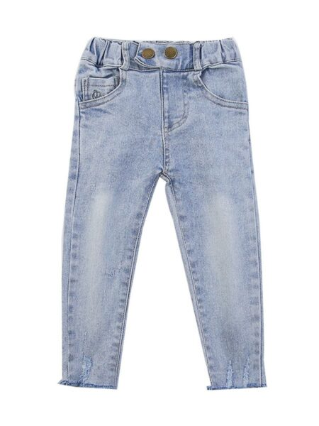 Kid Girl Versatile Denim Trousers  Jeans