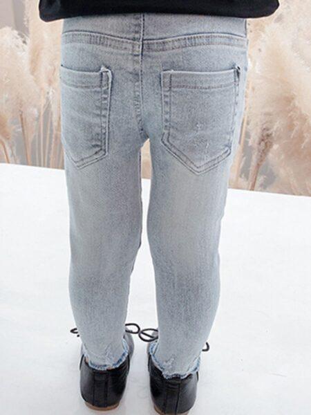 Kid Girl Versatile Denim Trousers  Jeans 2