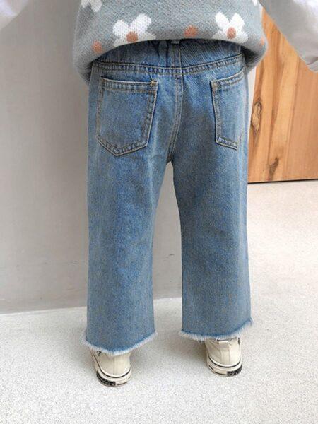 Kid Girl Rainbow Love Heart Jeans 2