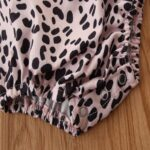 2 Pieces Baby Girl Off Shoulder Leopard Bodysuit And Pink Flared Pants Set 9