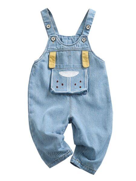 Toddler Cartoon Denim Overalls  Jeans