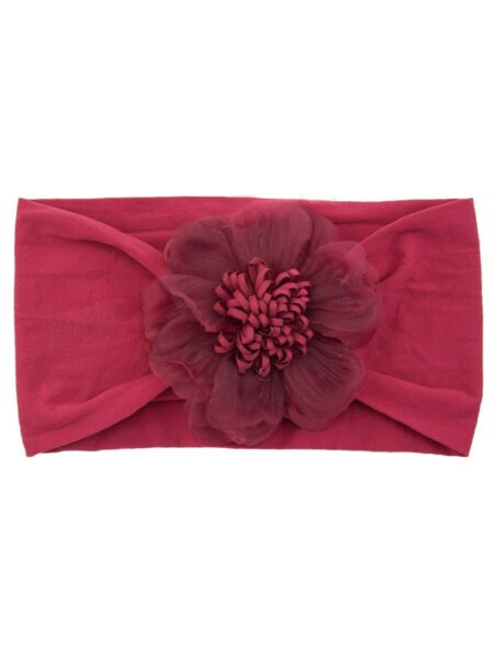 Toddler Girl Flower Solid Color Mesh Headband Wholesale Headbands