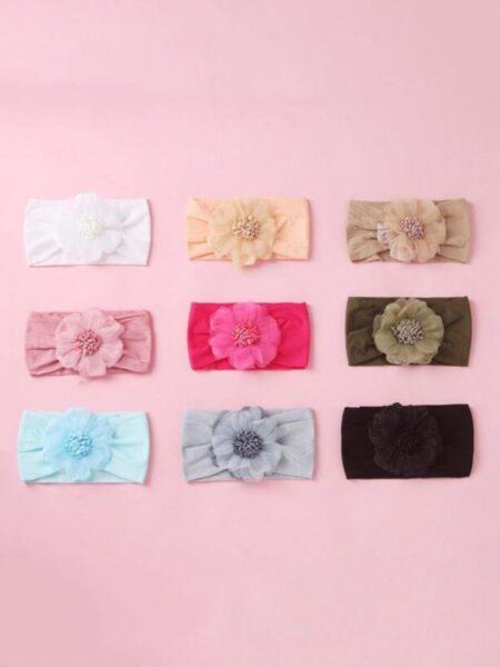 Girl Flower Turban Hairband Wholesale 2