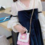 Faux Pearl Kid Girl Crossbody Bag